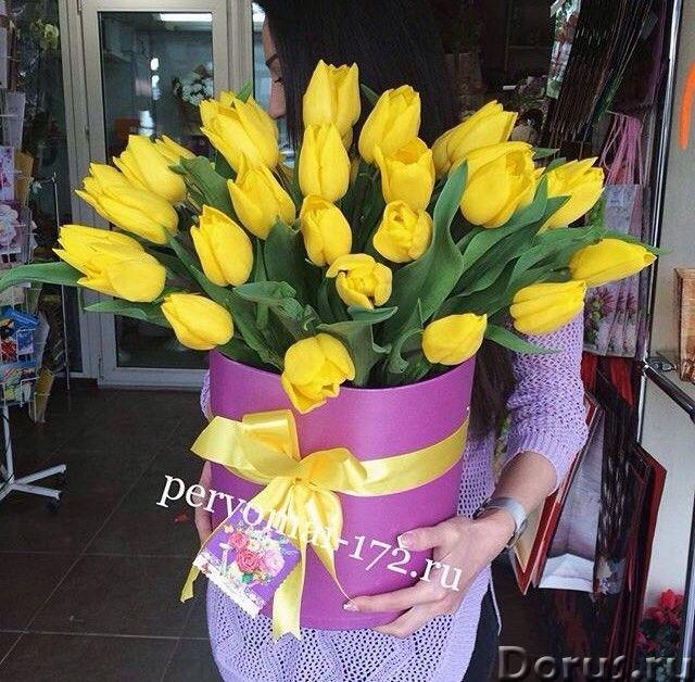 Доставка букетов в шляпных коробках в Ессентуках - Цветы - Доставка цветов по Ессентукам, по Кислово..., фото 4
