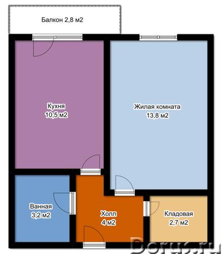 Ул Очаровательная 10 , корп 1, продается 1-комн. кв-ра, 2/3 эт. кирпичного дома, новостройка, общ. п..., фото 5